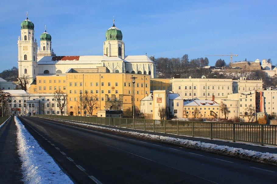 Dom St. Stephan, Altstadt, Marienbrücke, Passau, Bayern, Bavaria, Germany, fotoeins.com