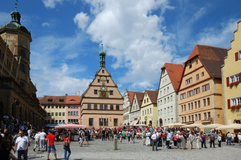 Marktplatz, Rothenburg ob der Tauber, all-free-photos.com