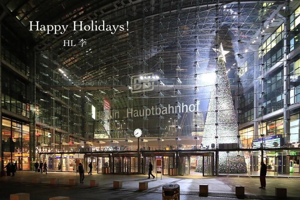 Weihnachtsbaum, Berlin Hauptbahnhof, Washingtonplatz, Berlin, Germany, footeins.com