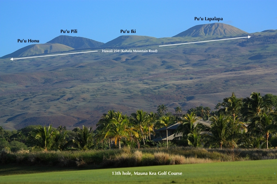 Kohala volcano, Mauna Kea Golf Course, Island of Hawaii, Big Island, Hawaii, USA, fotoeins.com