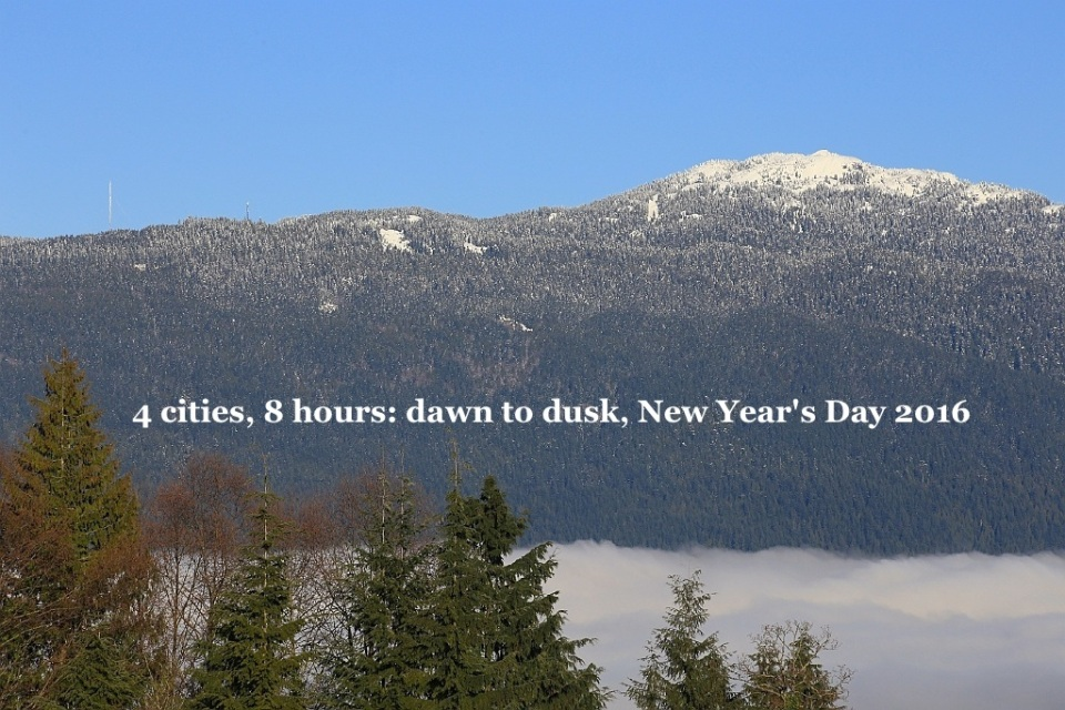 Mount Seymour, Burnaby Mountain, SFU, New Year's Day 2016, Vancouver, BC, Canada, fotoeins.com