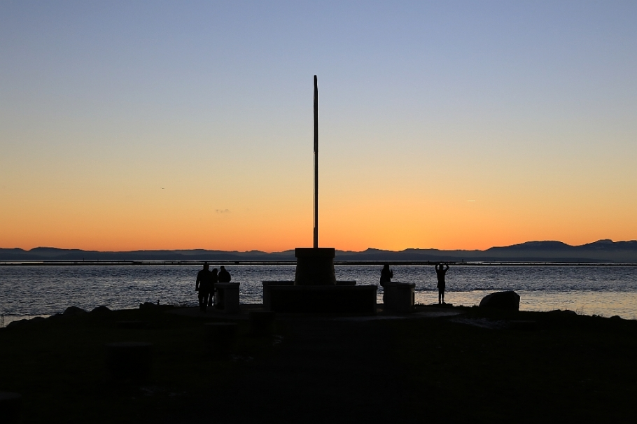Fisherman's Memorial, Garry Point Park, Steveston, Richmond, New Year's Day 2016, Vancouver, BC, Canada, fotoeins.com