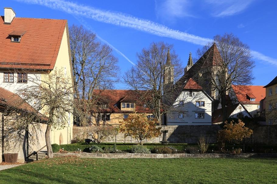 Klostergarten, Rothenburg ob der Tauber, Middle Franconia, Mittelfranken, Bayern, Bavaria, Germany, fotoeins.com