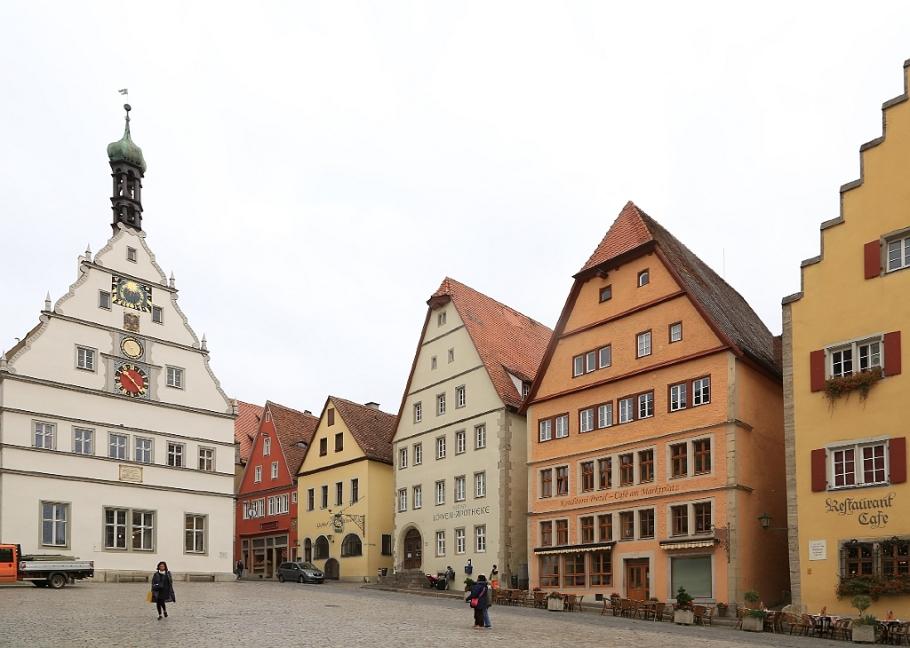 Ratstrinkstube, Meistertrunkuhr, Marktplatz, Rothenburg ob der Tauber, Middle Franconia, Mittelfranken, Bayern, Bavaria, Germany, fotoeins.com