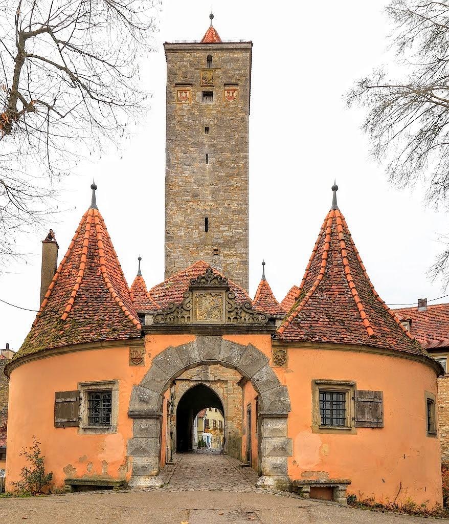 Burgtor, Castle Gate, Rothenburg ob der Tauber, Middle Franconia, Mittelfranken, Bayern, Bavaria, Germany, fotoeins.com