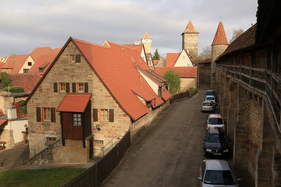 Stadtmauer, city wall, Rothenburg ob der Tauber, Middle Franconia, Mittelfranken, Bayern, Bavaria, Germany, fotoeins.com