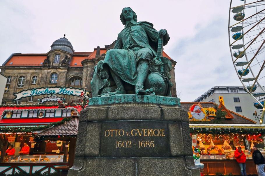 Otto von Guericke, Old Market, Romanesque Road, Strasse der Romanik, Magdeburg, Sachsen-Anhalt, Saxony Anhalt, Germany, Deutschland, fotoeins.com