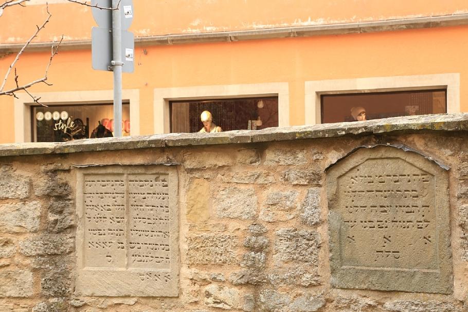 Rabbi-Meir-Gärtchen, Judentanzhaus, Weisser Turm, Rothenburg ob der Tauber, Germany, fotoeins.com