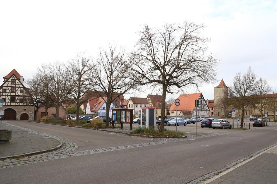 Schrannenplatz, Judenfriedhof, Stadtmauer, Rothenburg ob der Tauber, Germany, fotoeins.com
