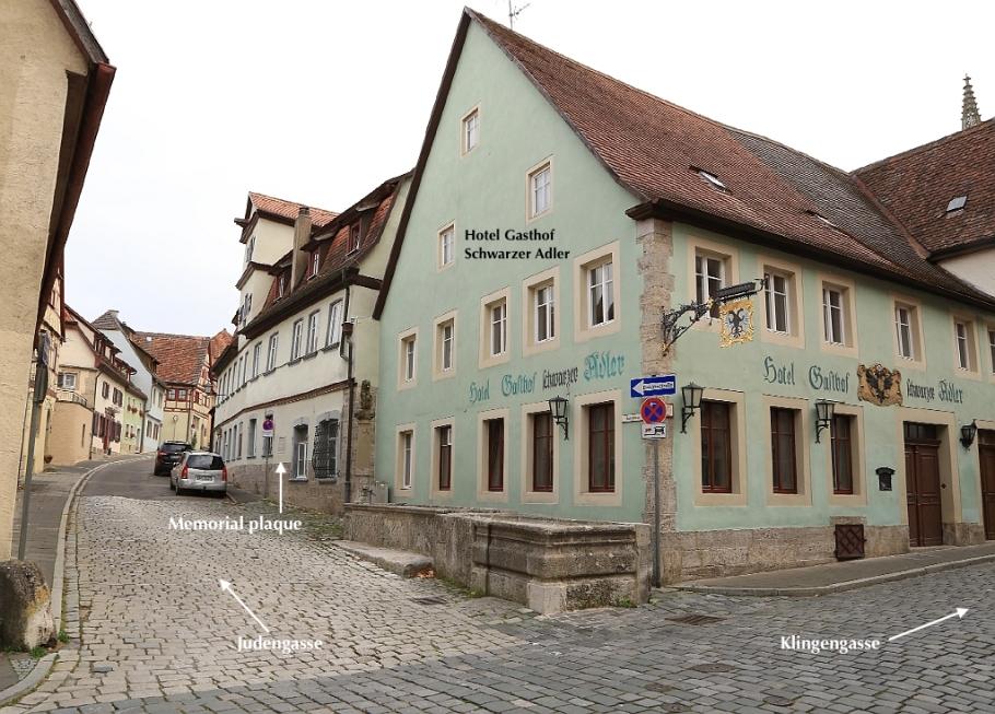 Jüdisches Wohnviertel, Jewish quarter, Judengasse, Altstadt, Rothenburg ob der Tauber, Germany, fotoeins.com