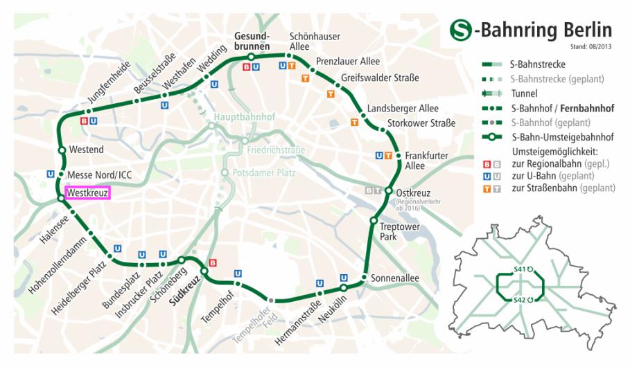 Berlin Westkreuz Ringbahn