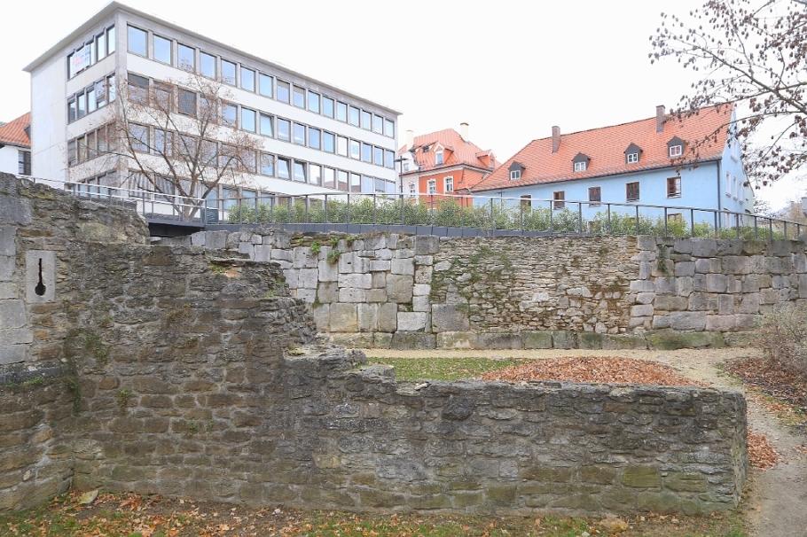 Southeast corner, Castra Regina, Roemerlager, Regensburg, Germany, UNESCO World Heritage Site, fotoeins.com