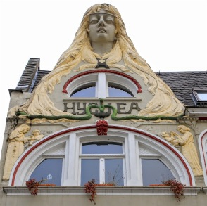 Hygiea, Art Nouveau, Jugendstil, Firmungstrasse 11, Kulturdenkmal Rheinland-Pfalz, Altstadt, Koblenz, Germany, fotoeins.com