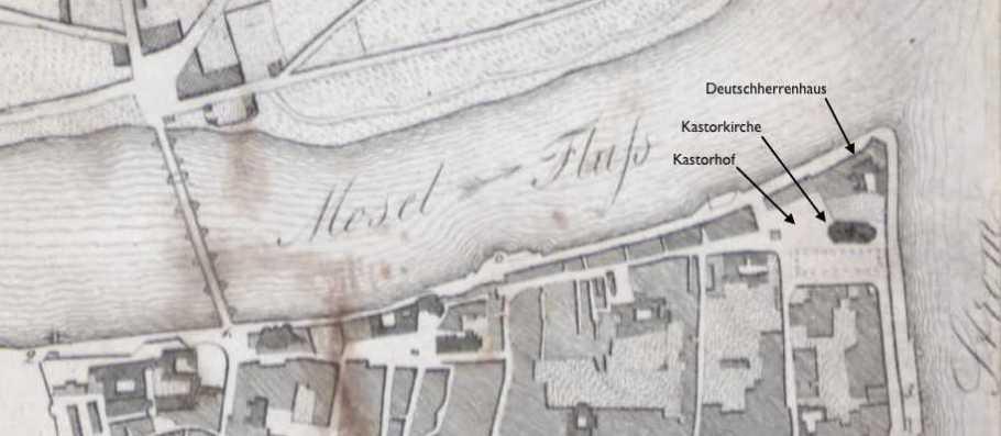 Coblenz und Umgebung in der Brusttasche. Geschildert von Bar. von Ehrenkreuz. Coblenz 1847.