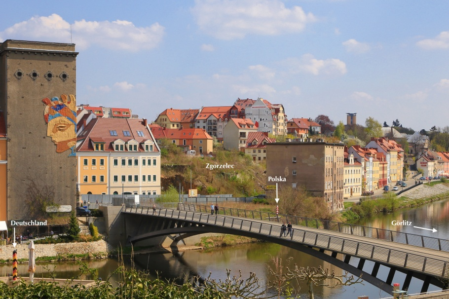 Görlitz, Germany, Zgorzelec, Poland, Altstadtbruecke, Old Town Bridge, Lusatian Neisse, Neisse, Upper Lusatia, Oberlausitz, Sachsen, Saxony, fotoeins.com
