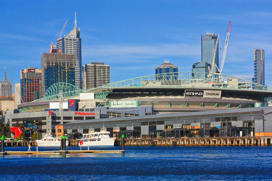 Etihad Stadium, Docklands, Yarra river, Melbourne, Victoria, Australia, fotoeins.com