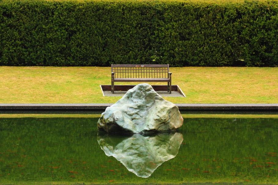 Reflecting pool, Academic Quadrangle, The Quad, AQ, Simon Fraser University, SFU, Burnaby, BC, Canada, fotoeins.com