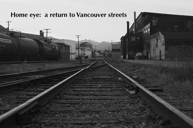 CN rail tracks, Canadian National, rail, freight, Glen Drive, Parker Street, Vancouver, BC, Canada, fotoeins.com