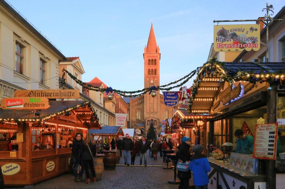 Potsdamer Weihnachtsmarkt, Blauer Lichterglanz, Potsdam, Brandenburg, Germany, fotoeins.com