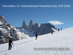 UN FAO International Mountain Day. International Mountain Day celebration 2015 in Chile/Brazil: photo by College João Paulo of Brazil and the University of Magallanes (UMAG).
