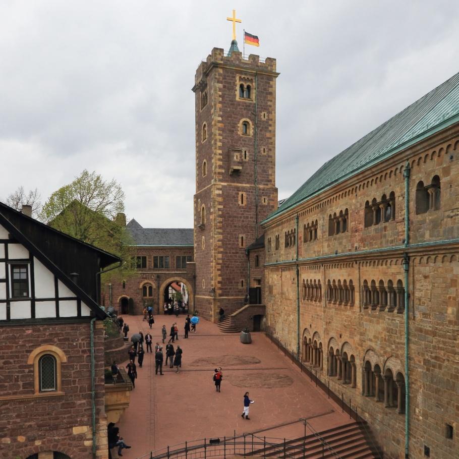 Wartburg Castle, Eisenach, Saxony-Anhalt, Sachsen-Anhalt, Martin Luther, Junker Jorg, Reformation, Germany, Deutschland, UNESCO, World Heritage, Weltkulturerbe, Welterbe