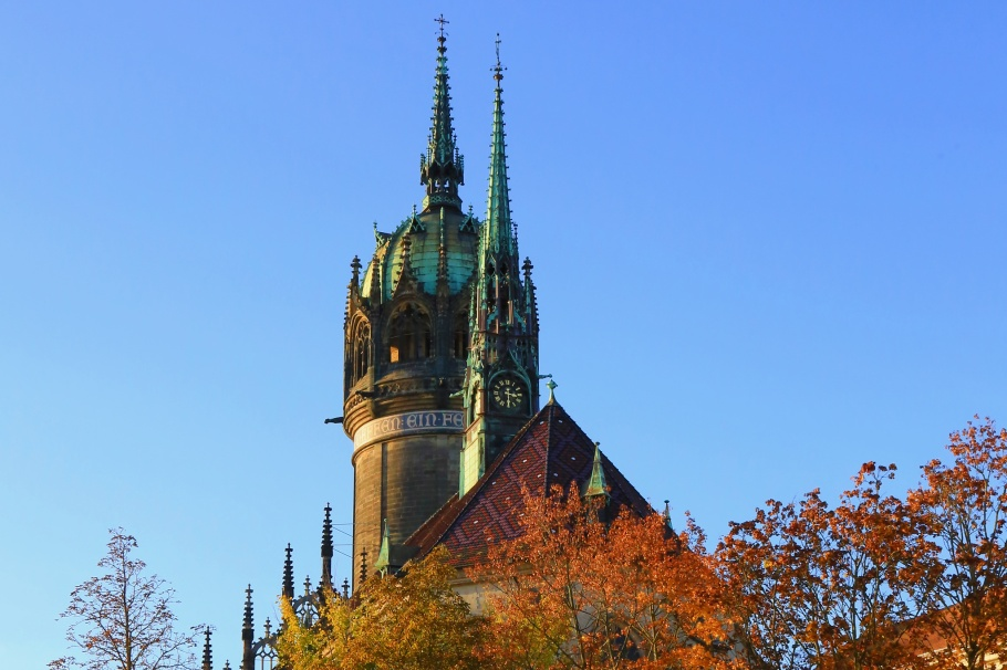 Schlosskirche, Castle Church, Wittenberg, Sachsen-Anhalt, Saxony-Anhalt, UNESCO World Heritage Site, Germany, fotoeins.com