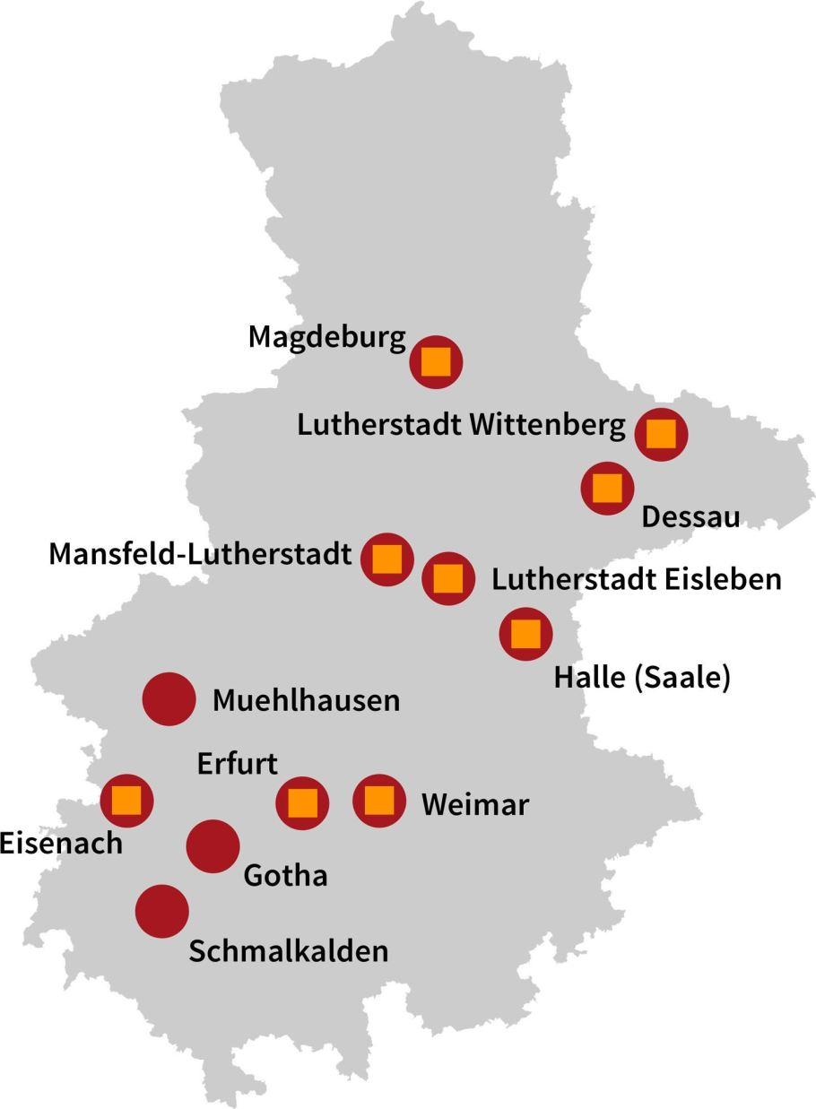 Luther Country map, www.visit-luther.com