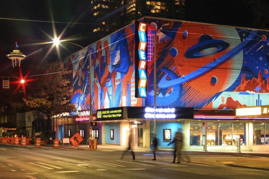 Cinerama, movie theater, Star Wars, Seattle, WA, USA, fotoeins.com
