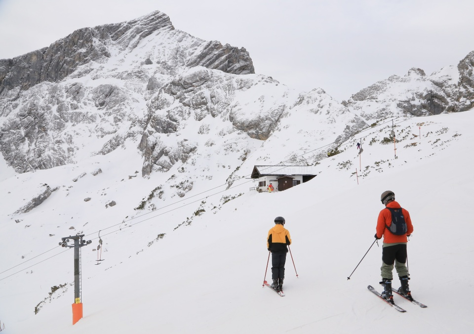 Alpspitze, Alpspitzbahn, Alpspitz-Gebiet, Osterfelderkopf, skiing, snowboarding, Garmisch-Classic, Garmisch-Partenkirchen, Grainau, Bavaria, Bayern, Germany, fotoeins.com