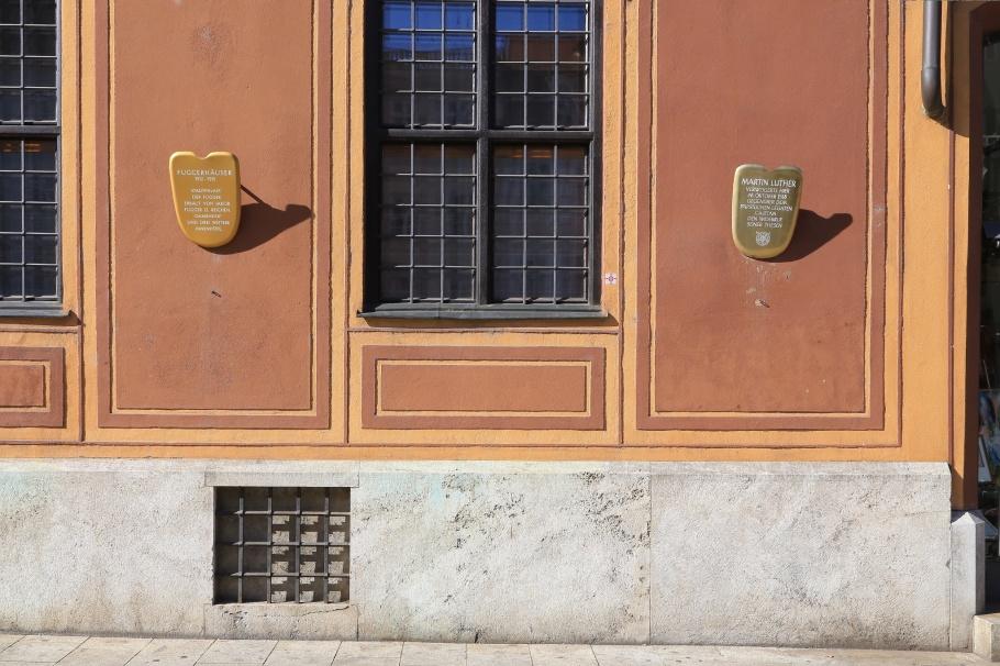 Fuggerhaeuser, Augsburg, Bayern, Bavaria, Germany, fotoeins.com