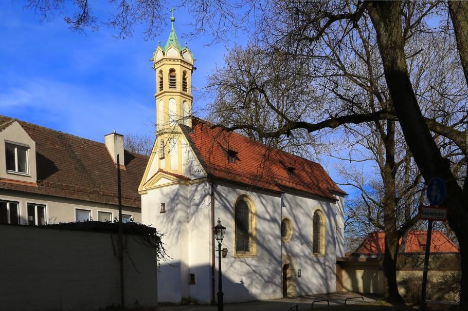 Galluskirche, Augsburg, Bayern, Bavaria, Germany, fotoeins.com