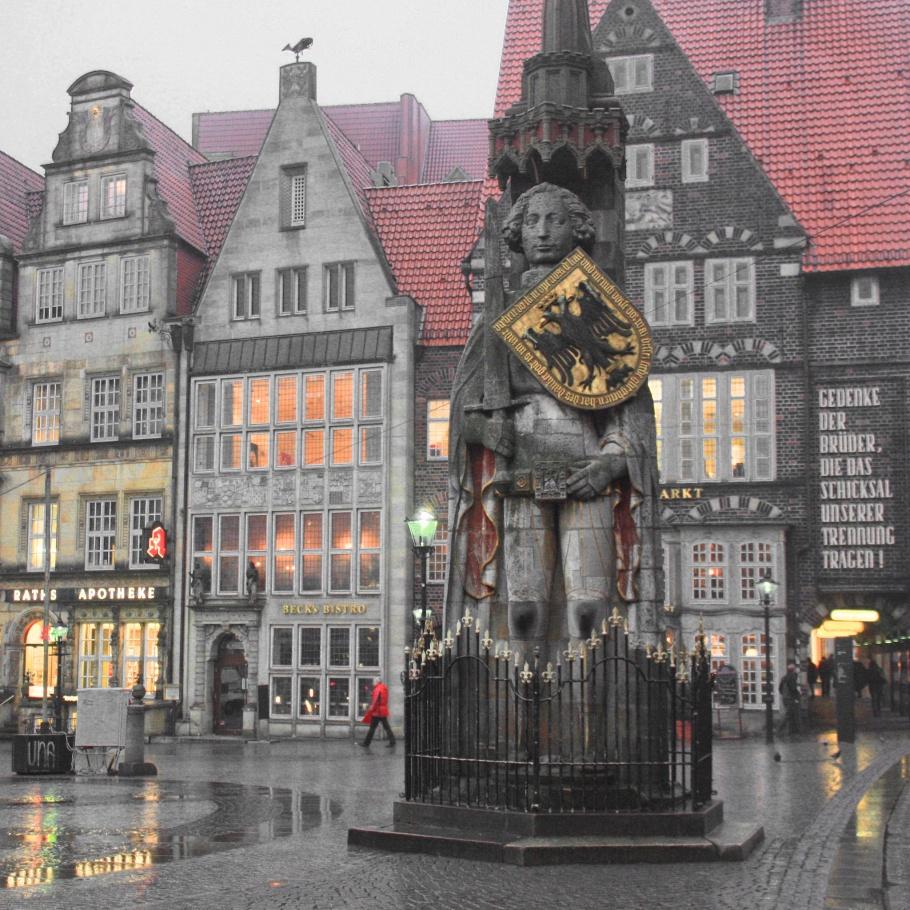 Bremer Roland, Roland statue, UNESCO, World Heritage, Weltkulturerbe, Welterbe, Am Markt, Bremen, Germany, fotoeins.com