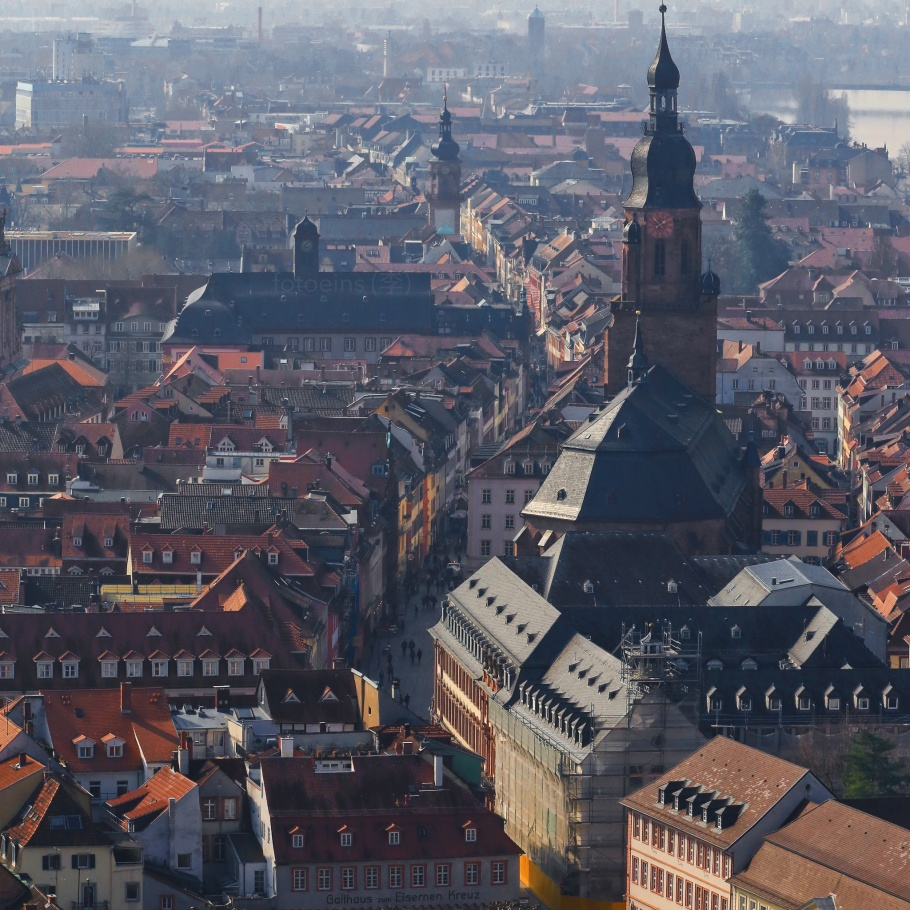 Hauptstrasse, Altstadt, Schloss Heidelberg, Heidelberg, Baden-Wuerttemberg, Germany, fotoeins.com