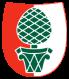 Zirbelnuss, cembra nut, Swiss pine, Augsburg, Wappen, Bayern, Bavaria, Swabia, Schwaben, Germany, Deutschland