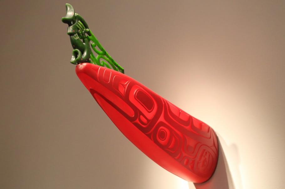 """Canoe/Waka"", Preston Singletary, Tlingit, Lewis Tamihana Gardiner, Maori, Seattle Art Museum, SAM, Seattle, USA, fotoeins.com"
