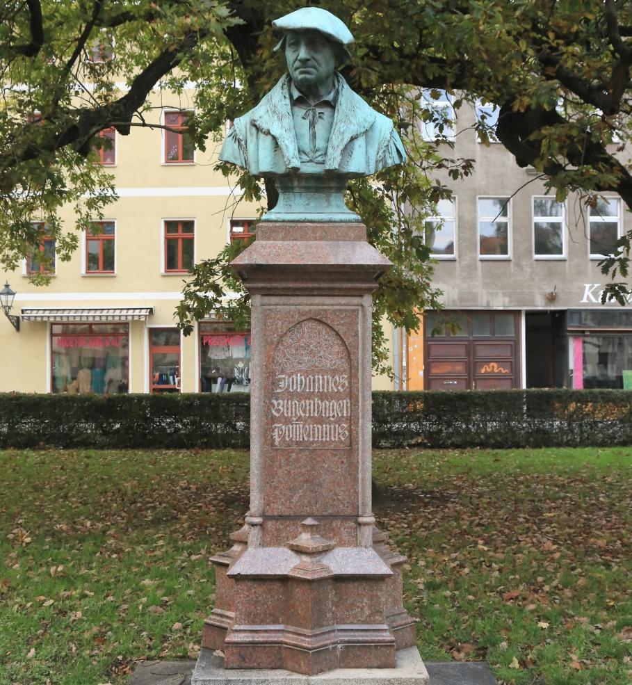 Johannes Bugenhagen, Doktor Pomeranus, Lutherstadt Wittenberg, Wittenberg, Saxony-Anhalt, Sachsen-Anhalt, Germany, fotoeins.com