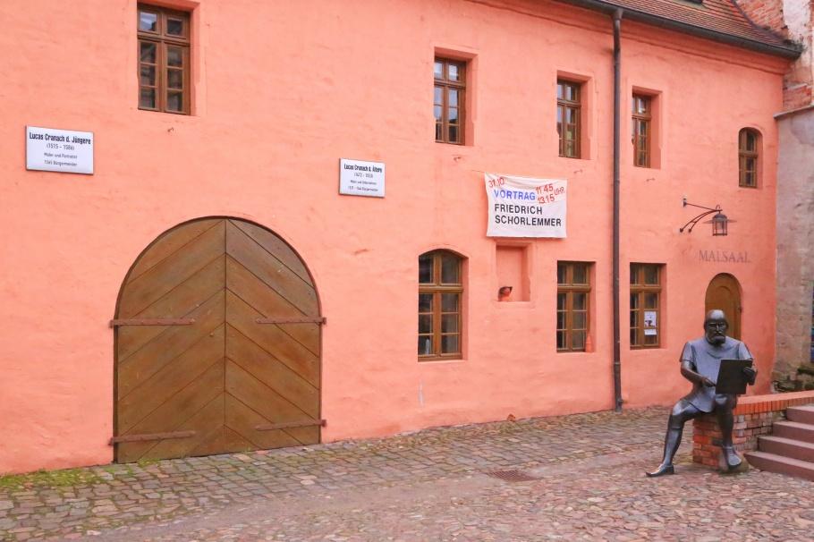 Cranach-Hof, Lutherstadt Wittenberg, Wittenberg, Saxony-Anhalt, Sachsen-Anhalt, Germany, fotoeins.com