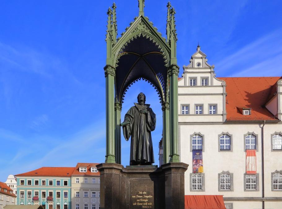 Melanchthondenkmal,  Melanchthon Memorial, Lutherstadt Wittenberg, Wittenberg, Saxony-Anhalt, Sachsen-Anhalt, Germany, fotoeins.com