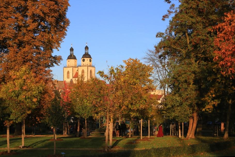 Stadtkirche, Luthergarten, Lutherstadt Wittenberg, Wittenberg, Saxony-Anhalt, Sachsen-Anhalt, Germany, fotoeins.com