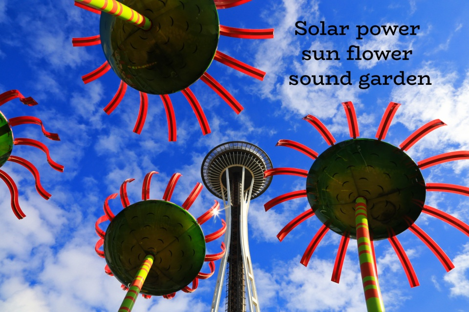 Sonic Bloom, Dan Corson, Pacific Science Center, Seattle Center, Space Needle, Seattle, WA, USA, fotoeins.com
