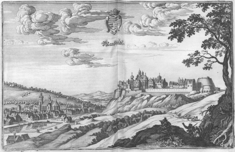 Manssfeld, Saxony-Anhalt, Germany. Published in the Topographia Superioris Saxoniae (1650, part of Topographia Germaniae), Wikimedia