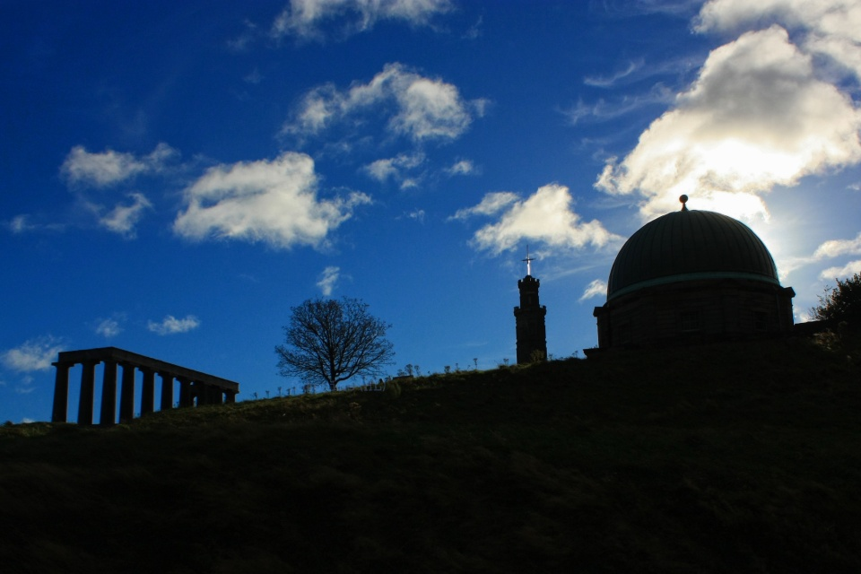National Monument, Nelson Monument, City Observatory, Hume Walk, Calton Hill, Edinburgh, Scotland, UNESCO World Heritage, fotoeins.com, myRTW