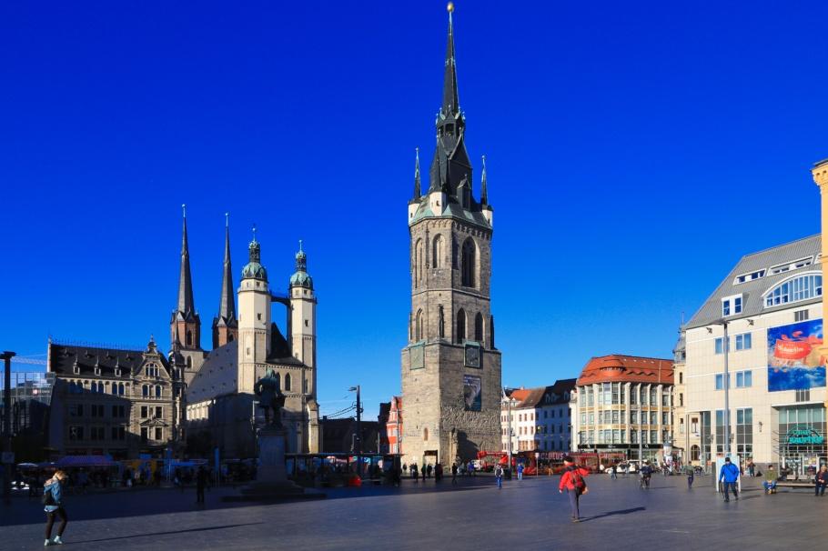 Marktplatz, Halle an der Saale, Halle, Saale river, Saale, Sachsen-Anhalt, Saxony-Anhalt, Cultural Heart of Germany, Germany, fotoeins.com