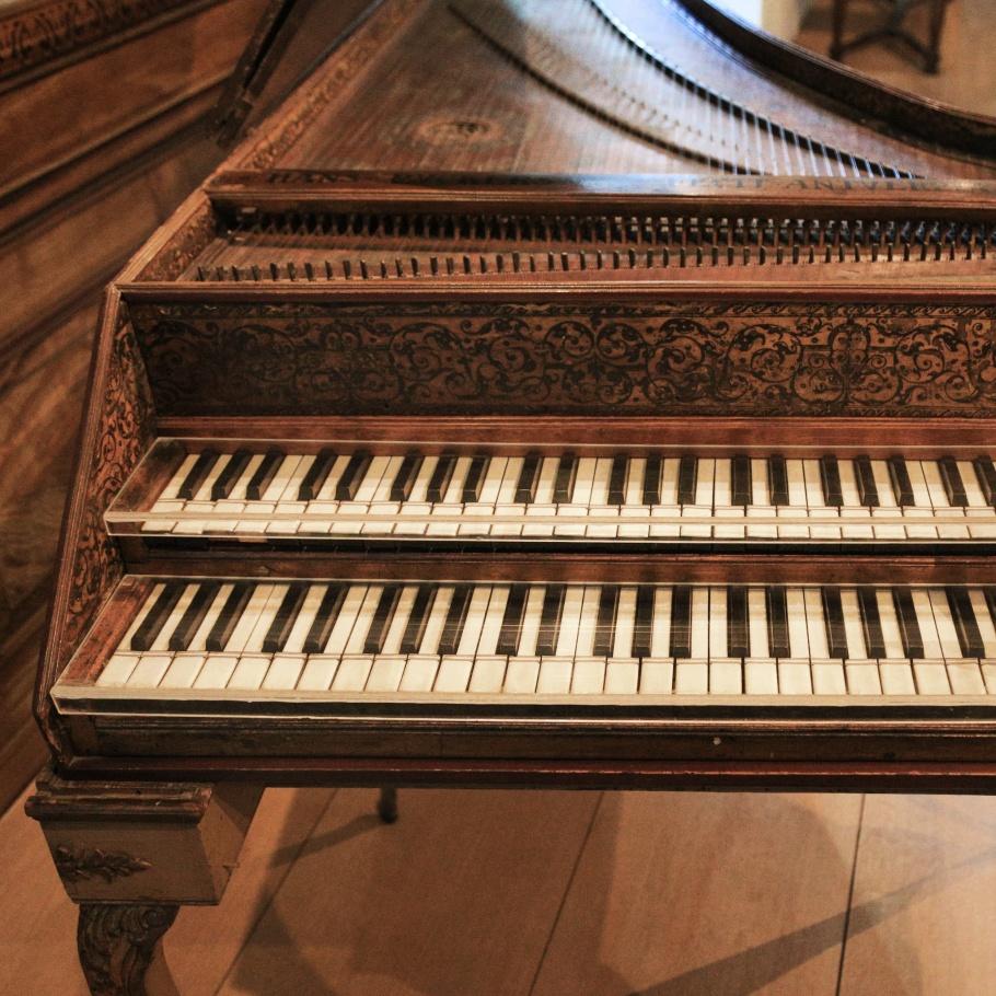 Ruckers harpsichord, harpsichord, Händel-Haus, Handel, Haendel, Halle (Saale), Halle an der Saale, Saxony-Anhalt, Sachsen-Anhalt, Germany, Deutschland, fotoeins.com