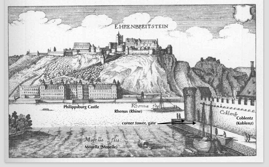 Topographia Archiepiscopatuum Moguntinensis, Treuirensis et Coloniensis, Matthias Merian, 1646