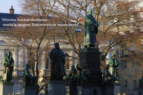 Lutherdenkmal, Reformationsdenkmal, Luther monument, Reformation monument, Worms, Rheinland-Pfalz, Rhineland-Palatinate, Germany, fotoeins.com