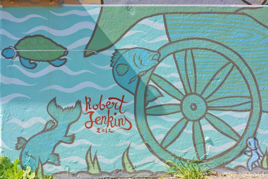 Robert Jenkins 2012 mural, Robert Jenkins, Subiaco Drive-In Bottle Shop, Subiaco Hotel, Subiaco, Perth, Western Australia, Australia, myRTW, fotoeins.com