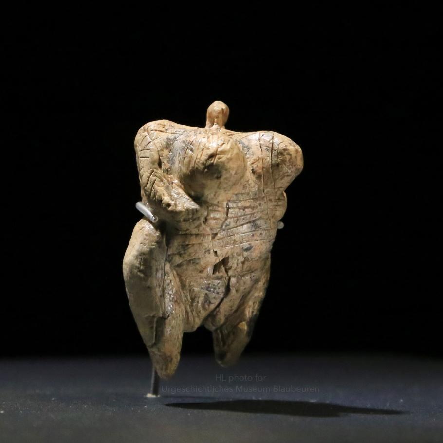 Venus of Hohle Fels, Hohle Fels, Ice Age caves, Swabian Alb, Swabian Jura, urmu, Urgeschichtes Museum, Blaubeuren, Baden-Württemberg, Germany, UNESCO, World Heritage, fotoeins.com