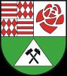 Coat of arms, Landkreis Mansfeld-Suedharz, Mansfeld-Suedharz, Saxony-Anhalt, Sachsen-Anhalt, Germany. Drawn by T. Rystau (Wikimedia)