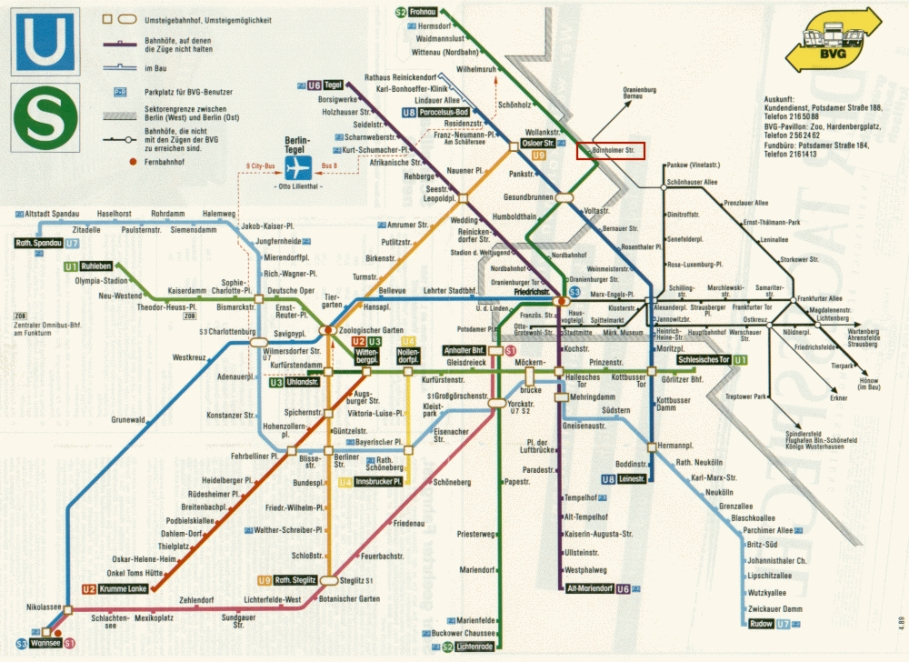 BVG, U-Bahn, S-Bahn, West Berlin, East Berlin, West Germany, East Germany